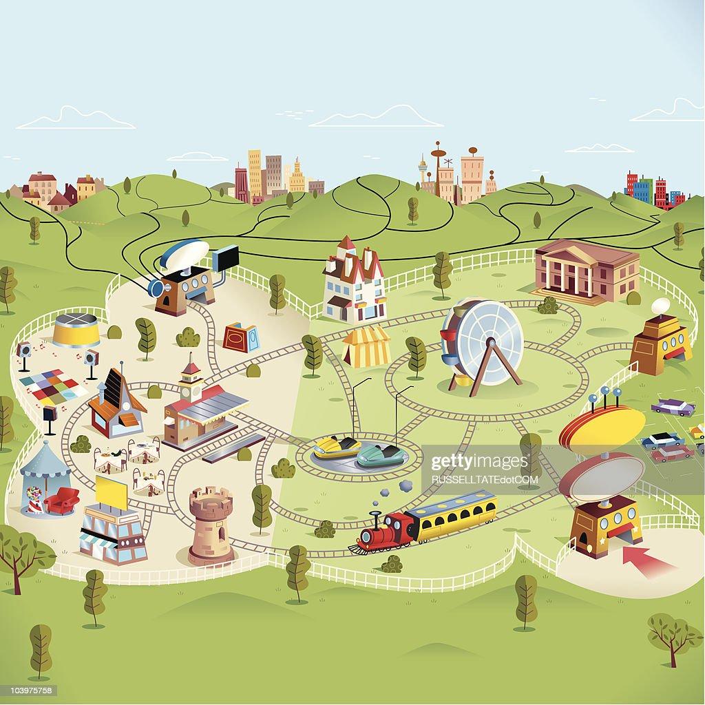 Theme Park : Vector Art