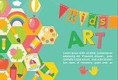 Kids,  Art Poster, Education, Background, Icons, Symbols