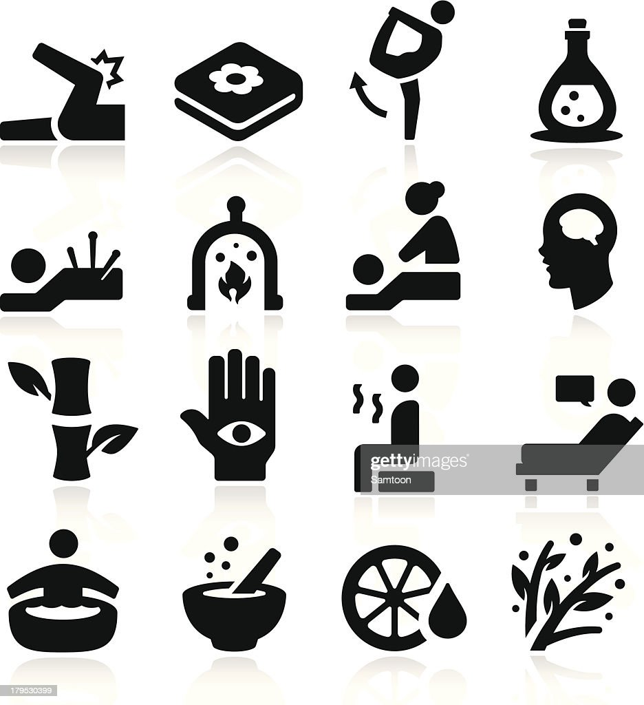 Therapy Icons Vector Art
