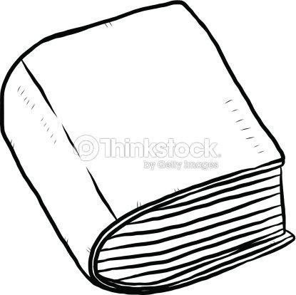 thick book cartoon hand drawn vector art thinkstock