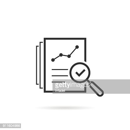 thin line assess icon like review audit risk : stock vector