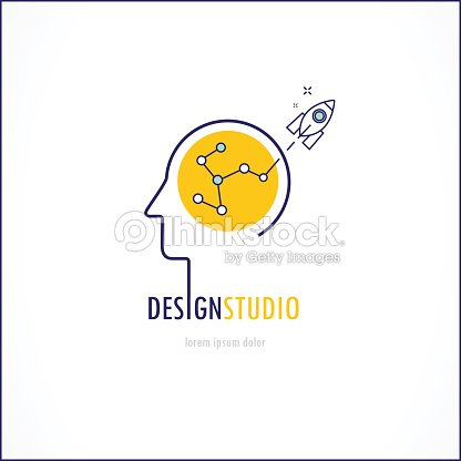 Thin Line Flat Design Vector Illustration For Creativity Inspiration And Innovation Stock