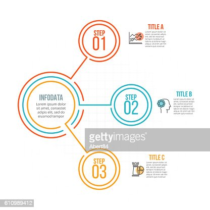 Thin line flat element for infographic. : stock vector
