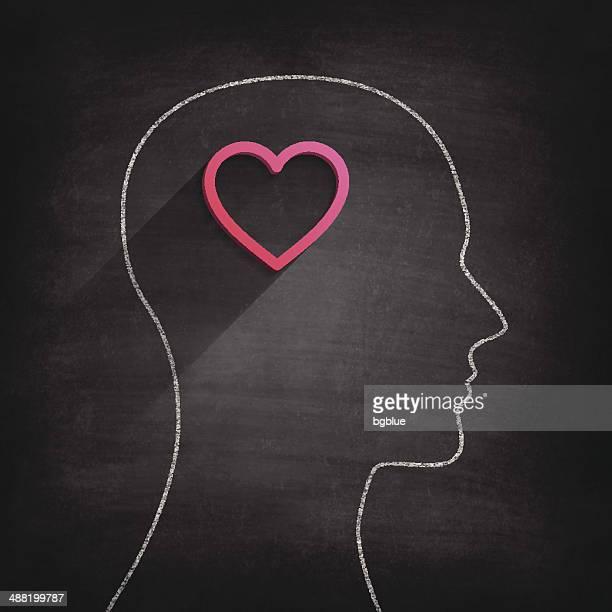 Pensando en amor en pizarra-Chalkboard