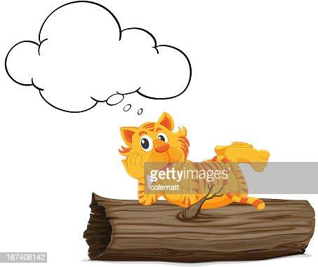 Thinking tiger : Vektorgrafik