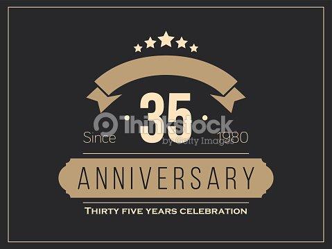 Thirty Five Years Anniversary Celebration Logotype 35th Anniversary