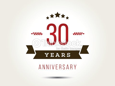 Thirty years anniversary celebration logotype 30th anniversary logo