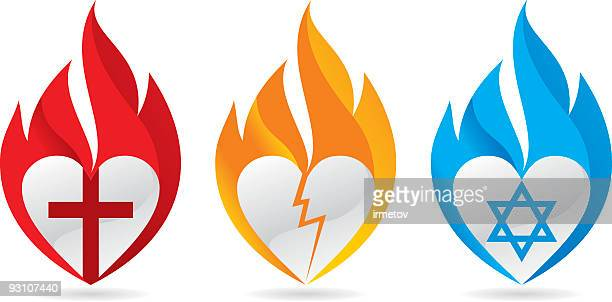 Three burning hearts for justice