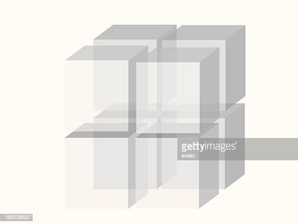 three dimensional square shape