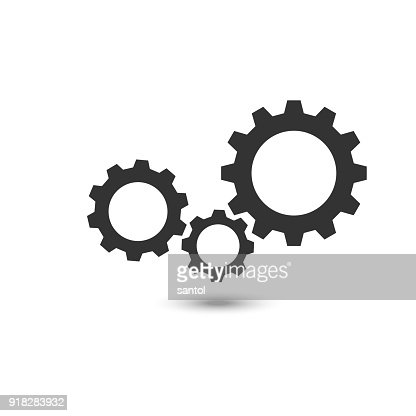 Three gear sign icon on background : stock vector