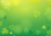 Three leaf clover abstract background 1 - eps10 vector illustration.