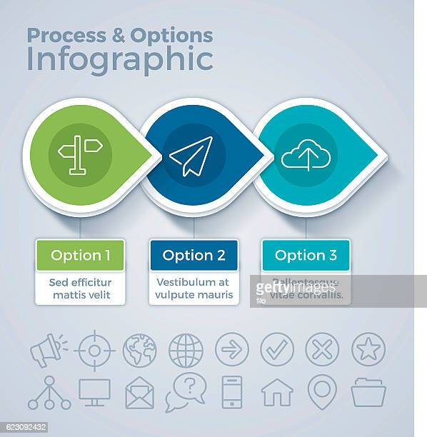 Three Option Process and Options Infographic