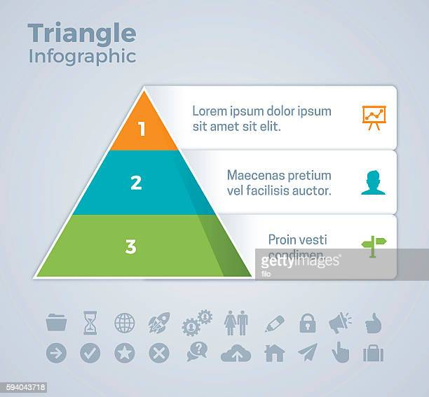 Three Option Triangle Infographic