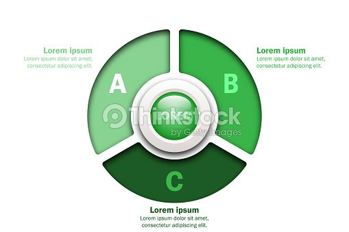 Trois Thèmes Graphique Vert En Papier Coupé Style Avec Marbre Cercle