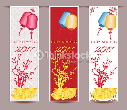 three vertical banners set for chinese new year of rooster vector art