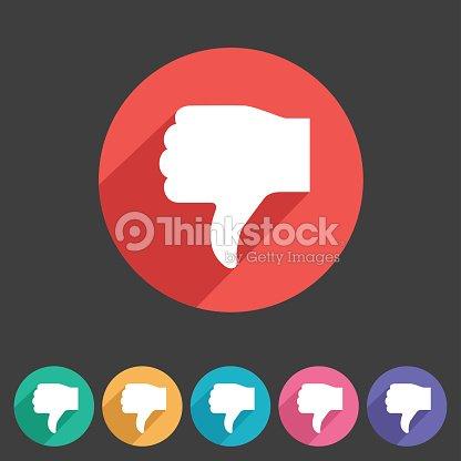 Thumbs Down Dislike Icon Flat Web Sign Symbol Logo Label Vector Art