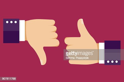 Thumbs up and down. Like for social network. Vector illustration EPS10 : stock vector