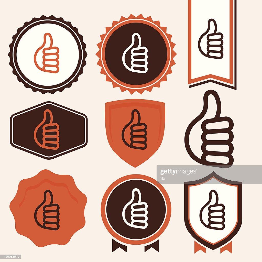 Thumbs Up Symbols : Vector Art