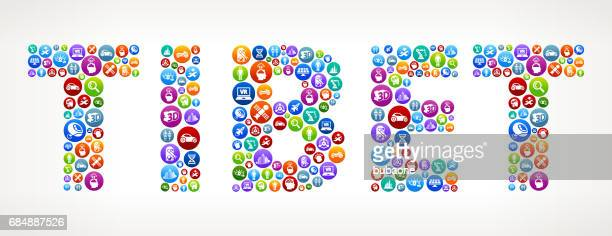Tibet Future and Futuristic Technology Vector Buttons