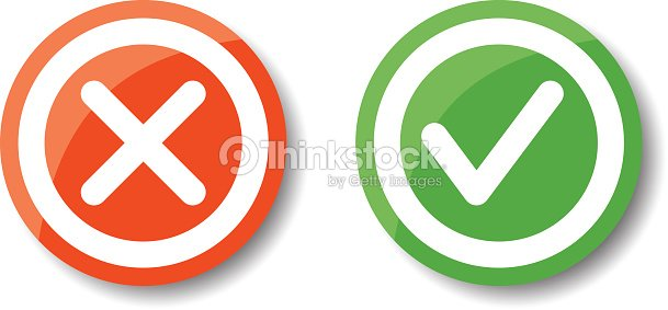 20819539860 Tick And Cross Icons Vector Art   Thinkstock