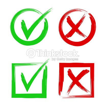 Tick And Cross Signs Symbols Yes And No Accept Or Decline Symbol