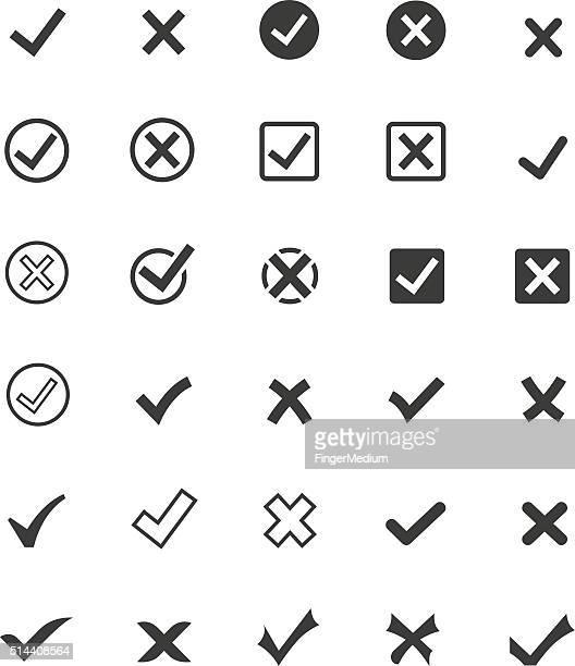 Coche marque de ensemble de icône