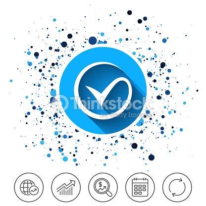 Tick Sign Icon Check Mark Symbol Vector Art Thinkstock