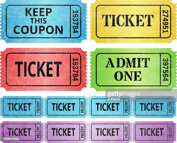 Ticket Stub and raffle tickets royalty free vector graphic