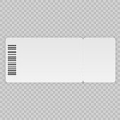Ticket template isolated on a transparent background
