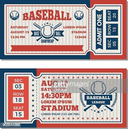 Tickets Design Template At Baseball Tournament Vector Art | Thinkstock