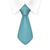 Tie isolated on white background. Business man concept. Vector illustration.