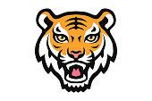 tiger animal mascot head vector illustration logo