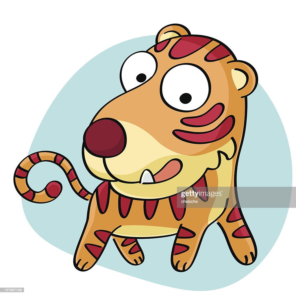 tiger cartoon vector art getty images