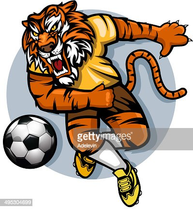 Tiger Football Mascot Vector Art | Getty Images