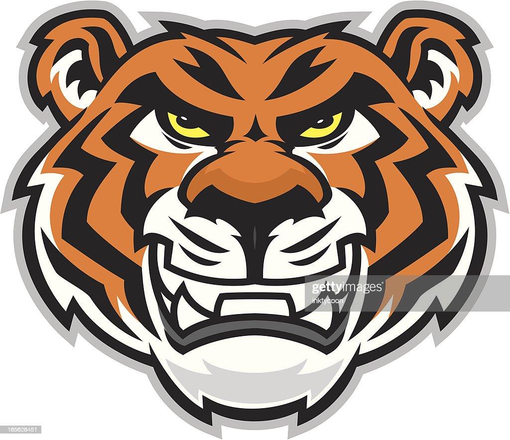 free tiger head clip art - photo #39