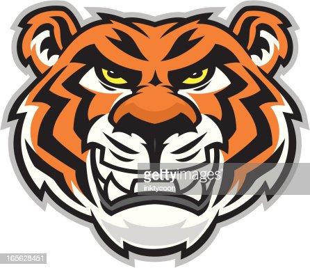 Tiger Head Clip Art Vector Art | Getty Images