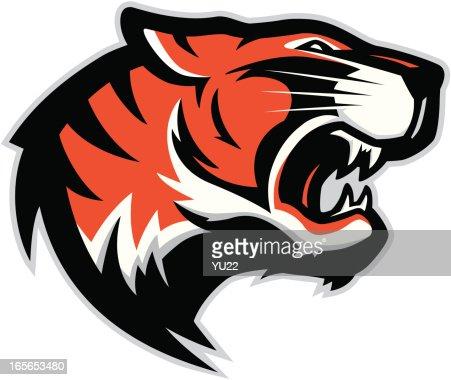 tiger head mascot 2 vector art getty images