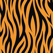 Tiger Stripes Seamless Vector Pattern