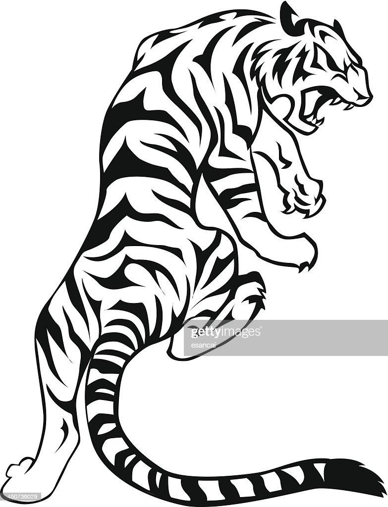 tiger vector art thinkstock rh thinkstockphotos ca tiger vector art free tiger head vector art