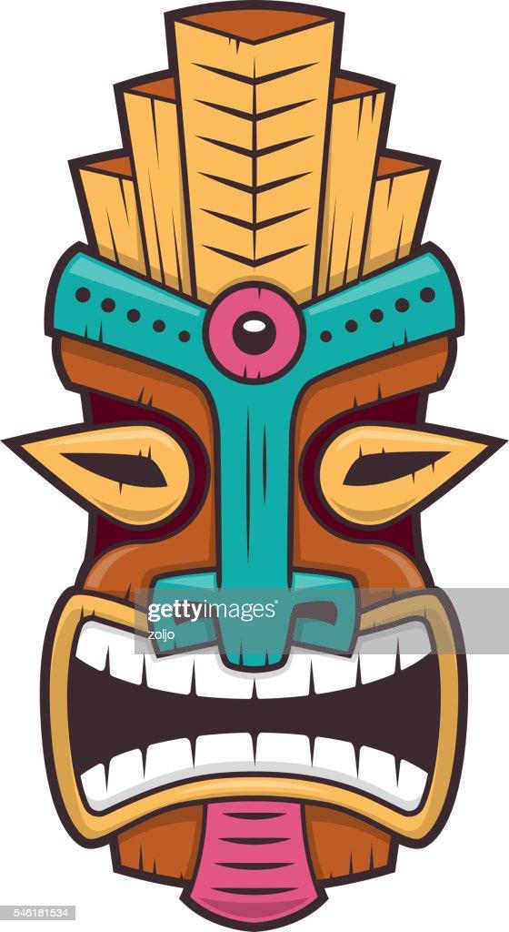 tiki mask vector art thinkstock rh thinkstockphotos com tiki statue vector tiki vector free download