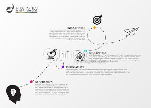 タイムライン インフォ グラフィック テンプレートビジネス コンセプト