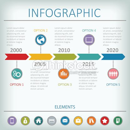 Timeline Infographic Vector Design Template Vector Art Thinkstock - Timeline design template
