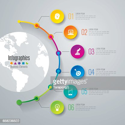 Timeline infographics design vector and business icons. : stock vector
