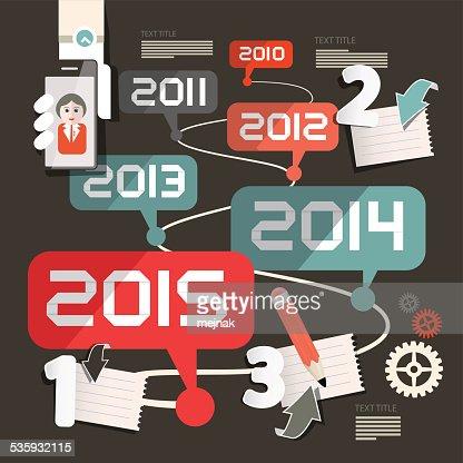 Timeline Infographics Layout : Vector Art