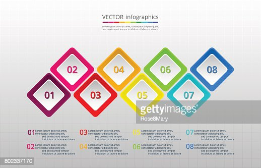 Timeline template : stock vector