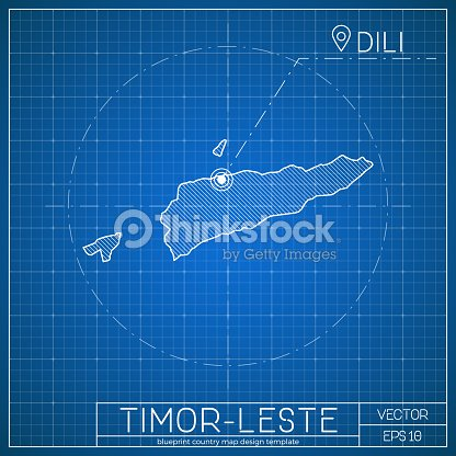 Timorleste blueprint map template with capital city vector art timor leste blueprint map template with capital city vector art malvernweather Images