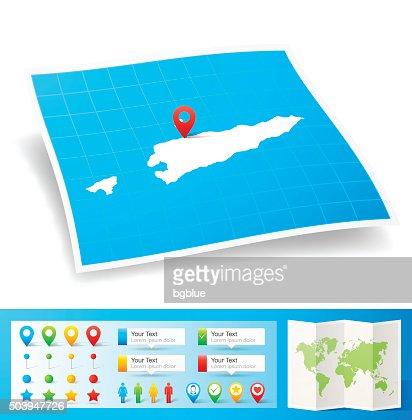Timorleste Map In Frame On White Background Vector Art Getty Images - East timor seetimor leste map vector