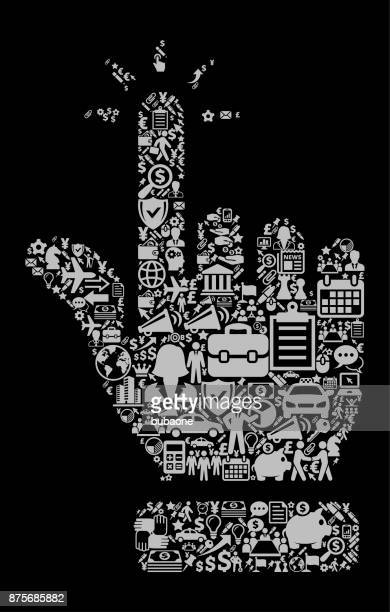 Tip of the Fingers Icon Business and Finance Vector Icon Pattern