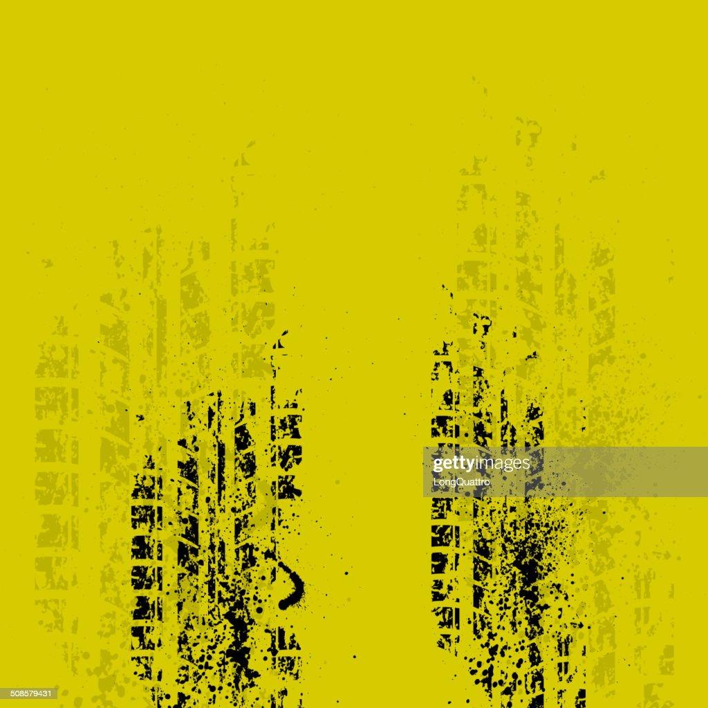 Reifenspur auf Gelb : Vektorgrafik