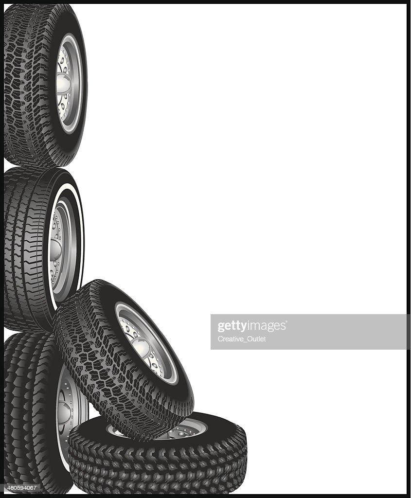 Tires Frame : Vector Art